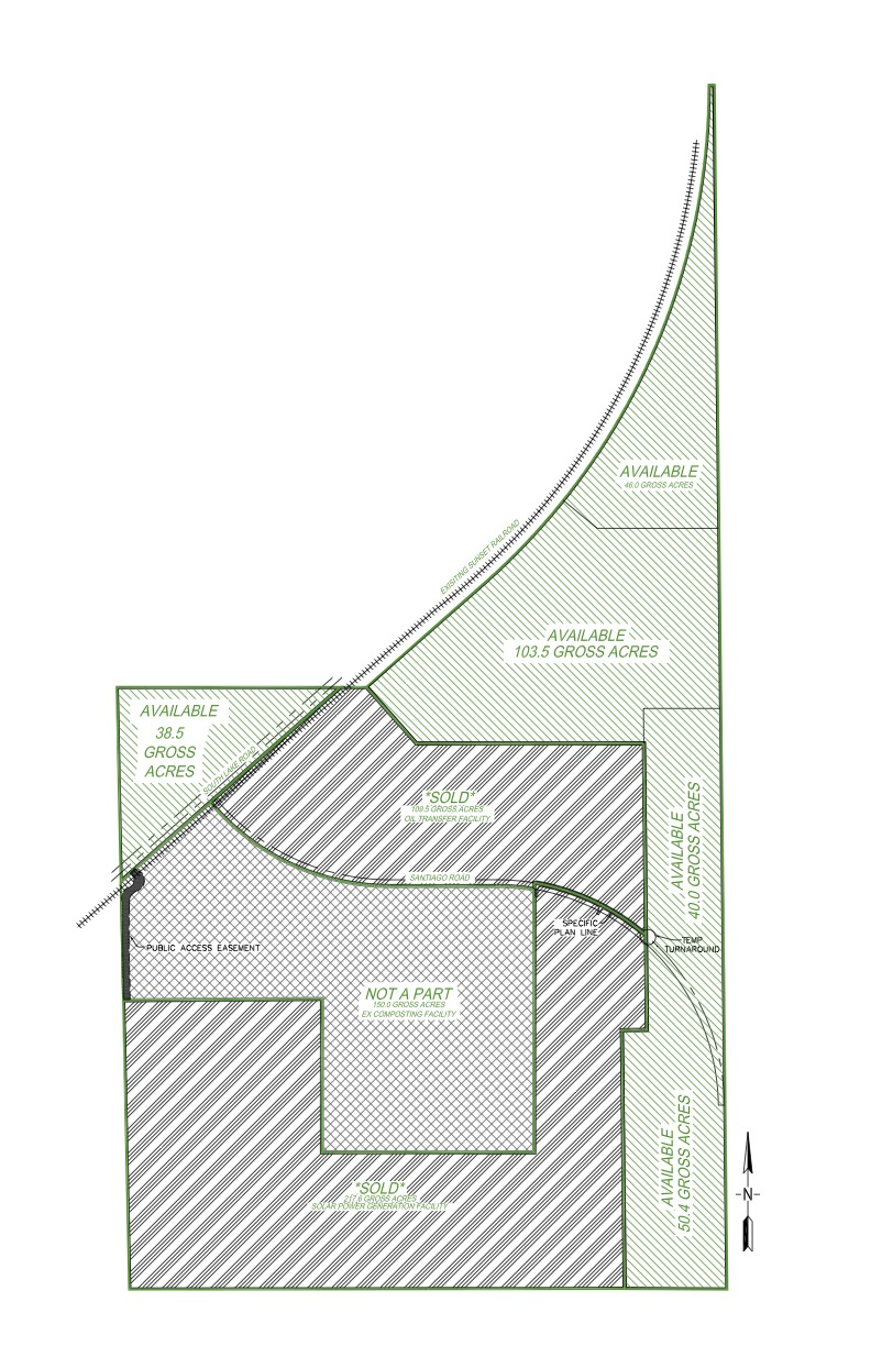 plat of available parcels with acreage