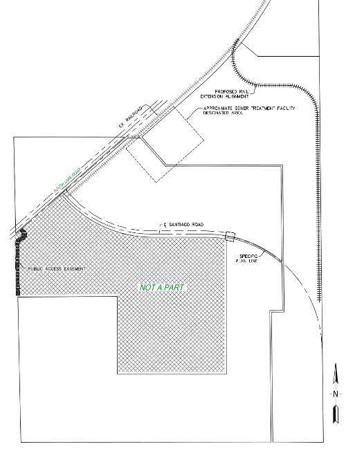 map of proposed rail extention to Lot 2