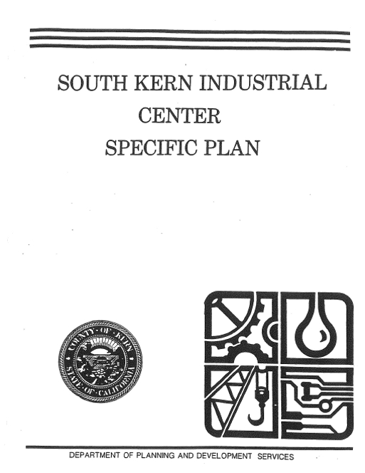 Specific Plan cover page